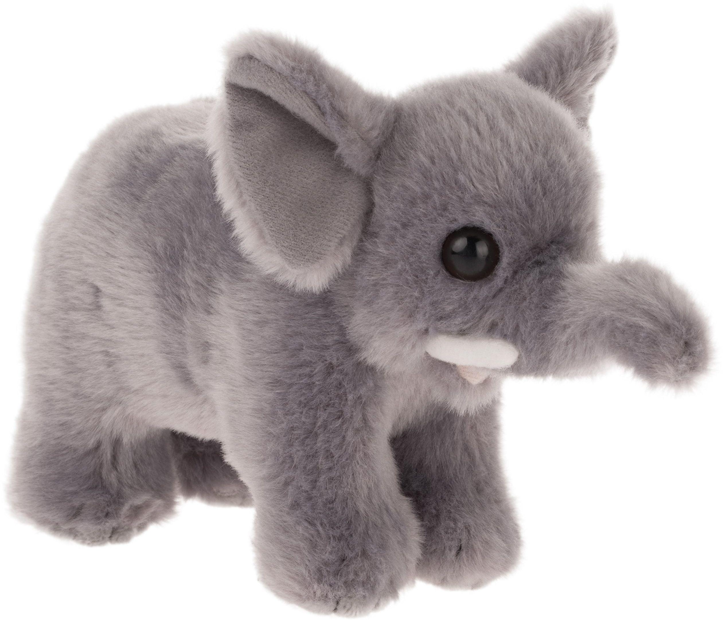 """Bauer Spielwaren """"Twoje zwierzęta z sercem"""" słoń: puszysta pluszowa pluszowa przytulanka z miękkiego pluszu do kochania i zabawy, 15 cm, szara (10139)"""