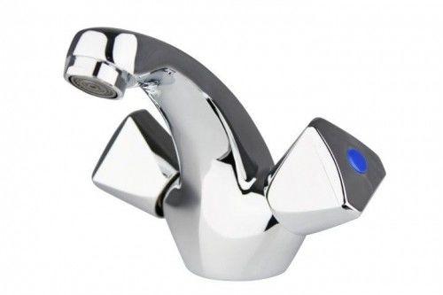 Bateria umywalkowa dwuręczna do małych umywalek, chrom