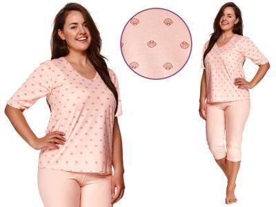 Piżama damska LIDIA: brzoskwinia