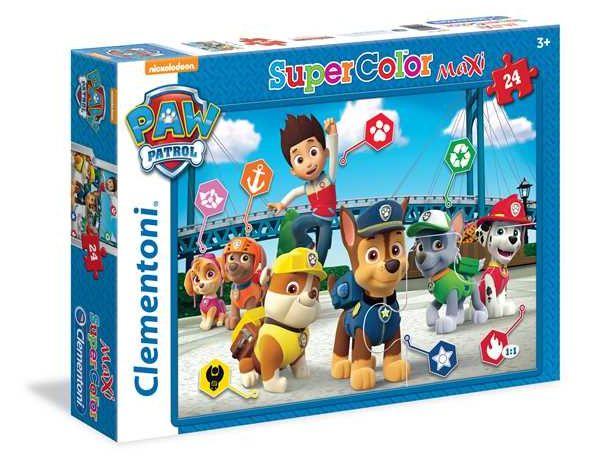Puzzle 24 maxi Super kolor Psi Patrol 24049 - Clementoni