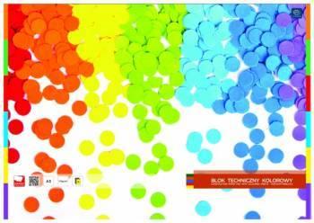 Blok techniczny kolorowy A3 10 kartek kolorowy - X04580