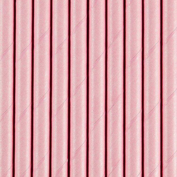 Słomki papierowe j. różowe 10 sztuk SPP9-081j