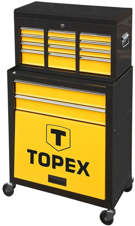 Szafka narzędziowa 2 szuflady duża półka nadstawka 79R500