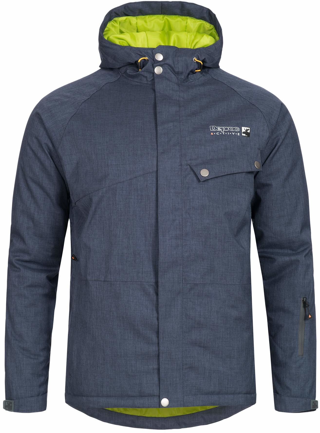 DEPROC-Active Męska kurtka narciarska Alaska niebieski grantowy XL