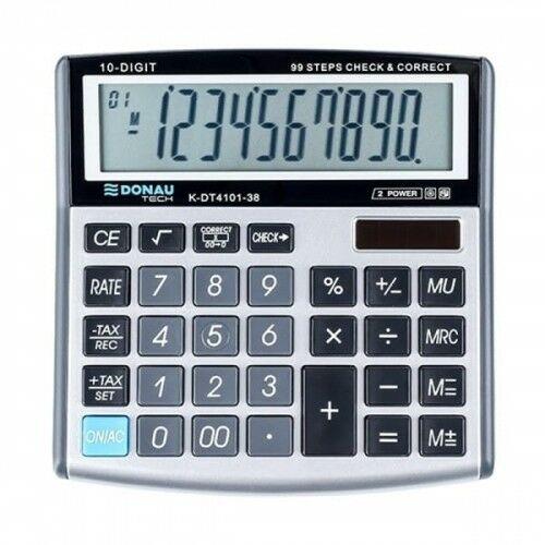 Kalkulator 10 pozycyjny DONAU TECH K-DT4101-38 136x134x28mm srebrny /K-DT4101-38/