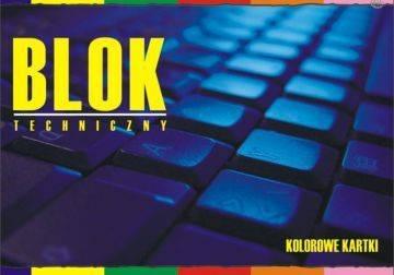 Blok techniczny A4 10 kartek kolorowy - X04583