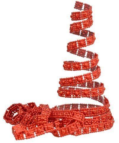 Łańcuch choinkowy zdobiony pasek czerwony 270cm 1 szt BG9843CZE