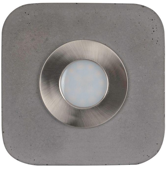 Spot Light 2291136 Cool plafon lampa sufitowa Incl. 1x5W LED Szary/Satyna 14cm