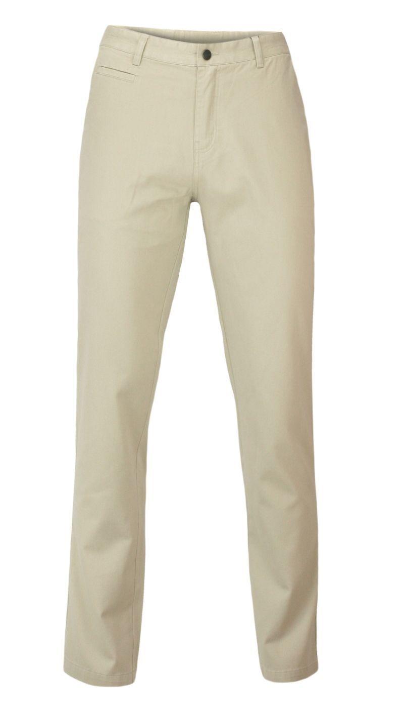 Beżowe Casualowe Spodnie Męskie, Bawełniane, Chinos -EZREAL- Zwężane Nogawki SPEZREAL473green