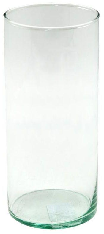 Wazon szklany cylinder 19 x 8.6 cm transparentny