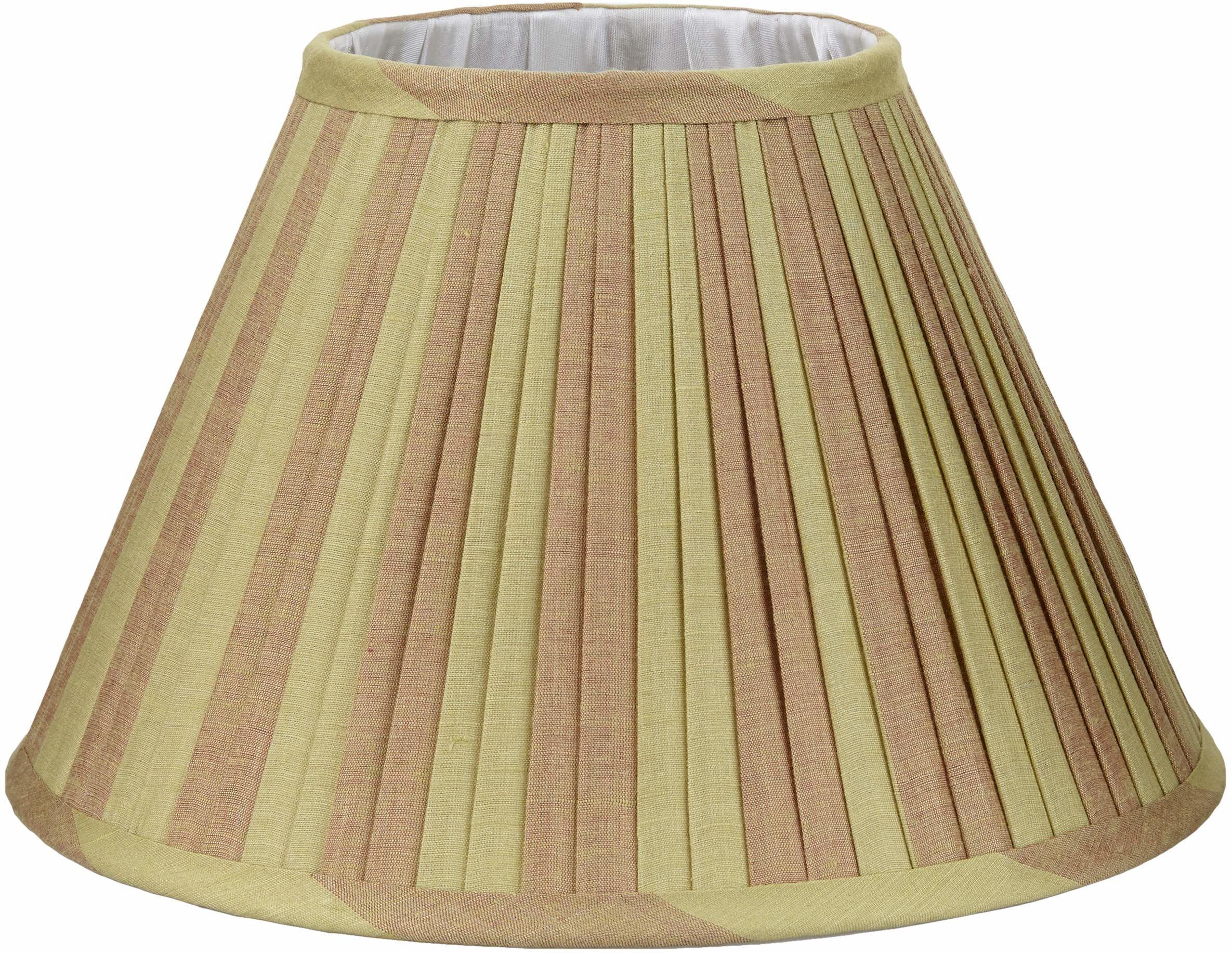 Better & Best 0213308  Klosz lampy z jedwabiu, tabela wąskich pasków 30 cm, dwukolorowy, taupe i zielony