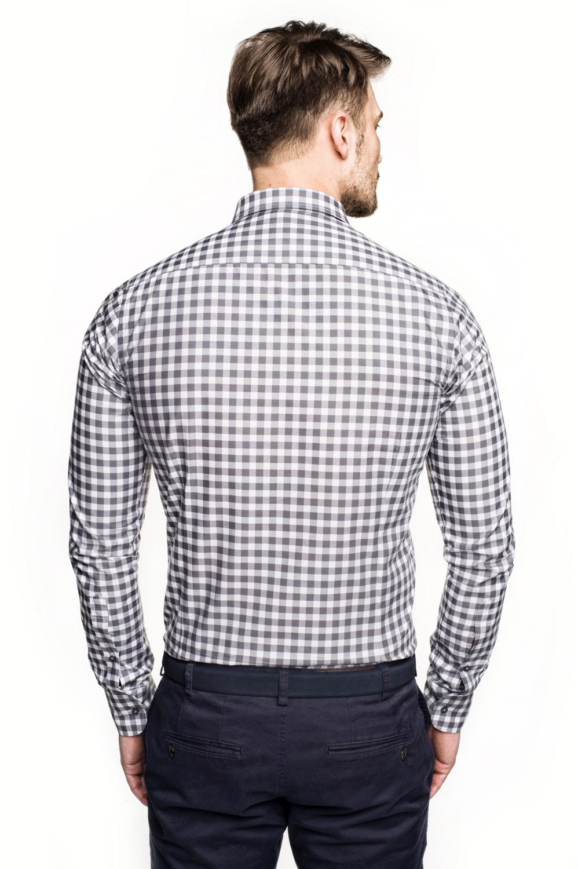 koszula versone 2704 długi rękaw slim fit szary