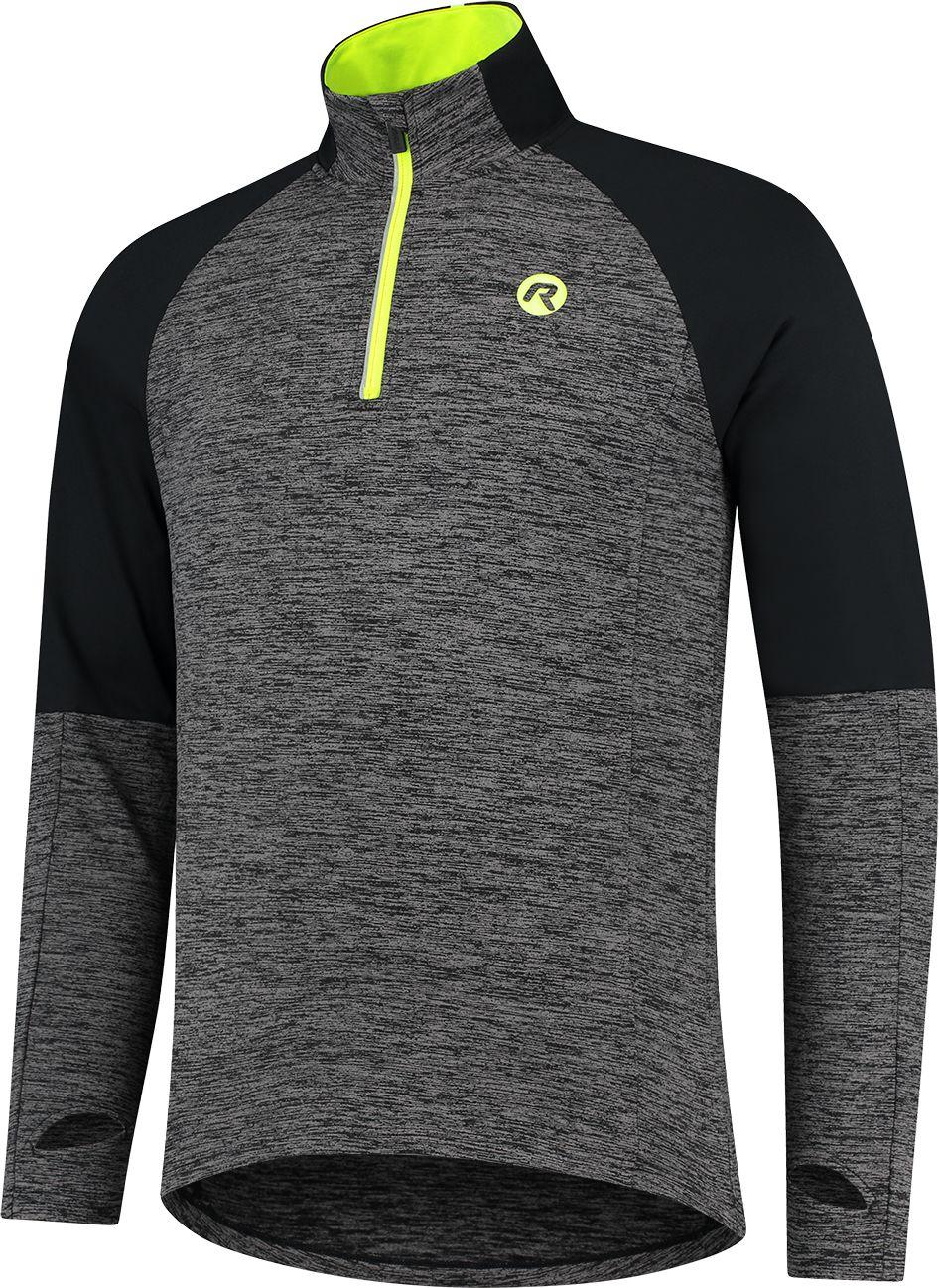 ROGELLI męska bluza do biegania ENJOY black/grey ROG351102 Rozmiar: L,ROG351102.S