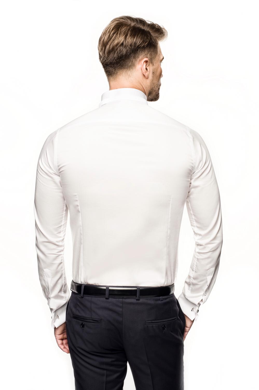koszula wincass 2738 na spinki slim fit ecru