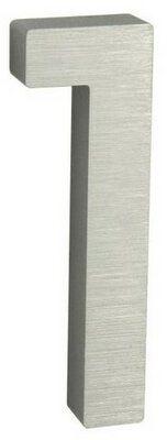 Aluminiowy numer domu 1, 3D pow. szlifowana