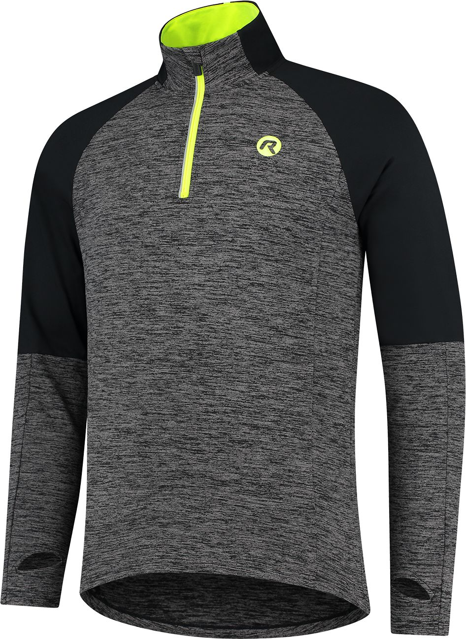 ROGELLI męska bluza do biegania ENJOY black/grey ROG351102 Rozmiar: 2XL,ROG351102.S
