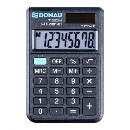Kalkulator kieszonkowy 8 pozycyjny DONAU TECH K-DT2081-01 90x60x11mm czarny /K-DT2081-01/