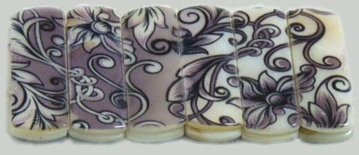 Bransoletka z barwionej masy perłowej