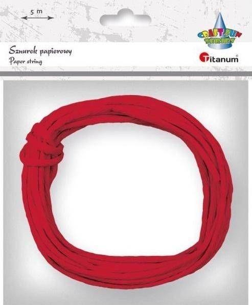 Sznurek papierowy 3.5mmx5m czerwony - Titanum