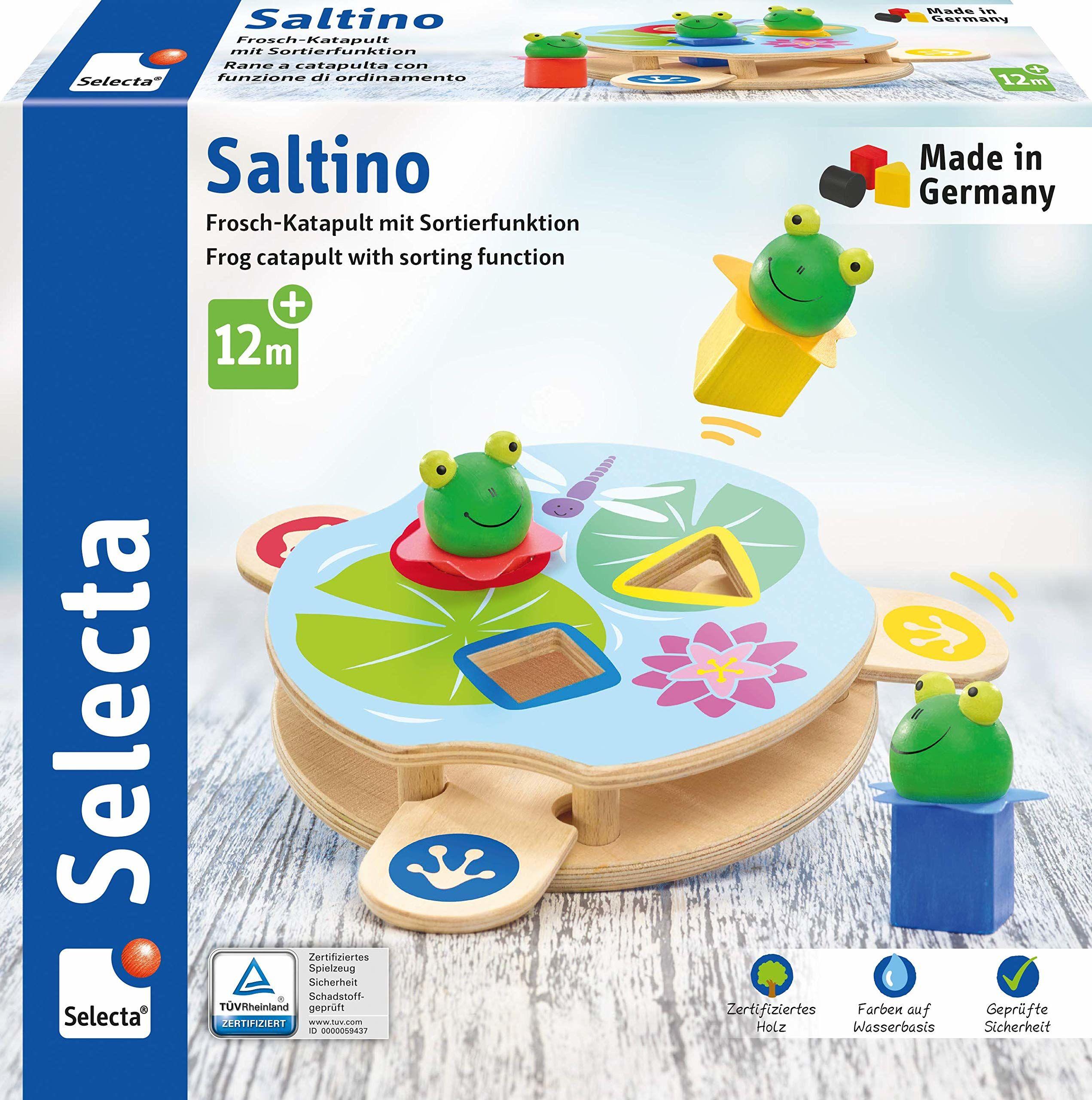 Selecta 62072 Saltino, zabawka motoryczna z drewna
