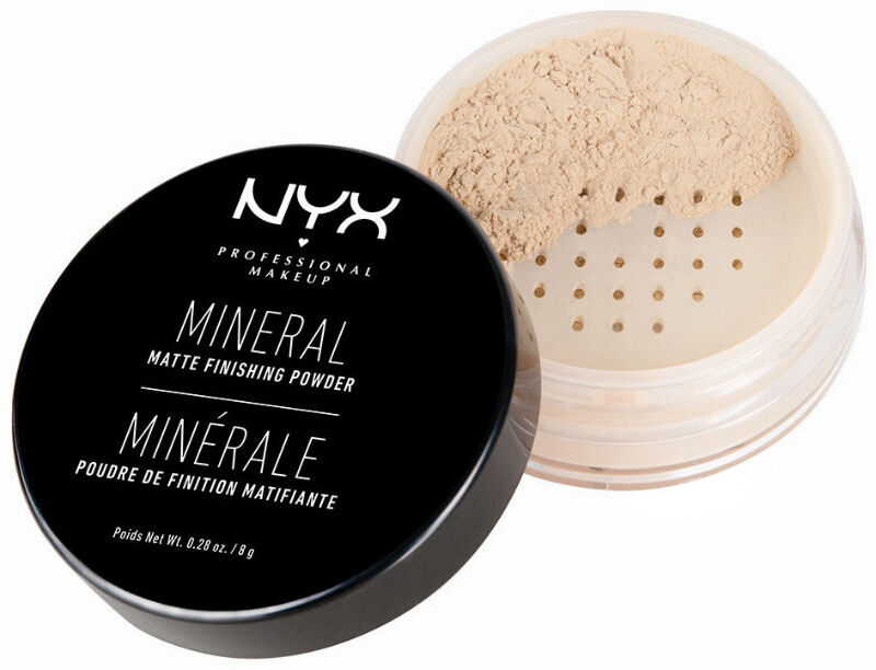 NYX Professional Makeup - MINERAL MATTE FINISHING POWDER - Puder mineralny - 01 - LIGHT/MEDIUM