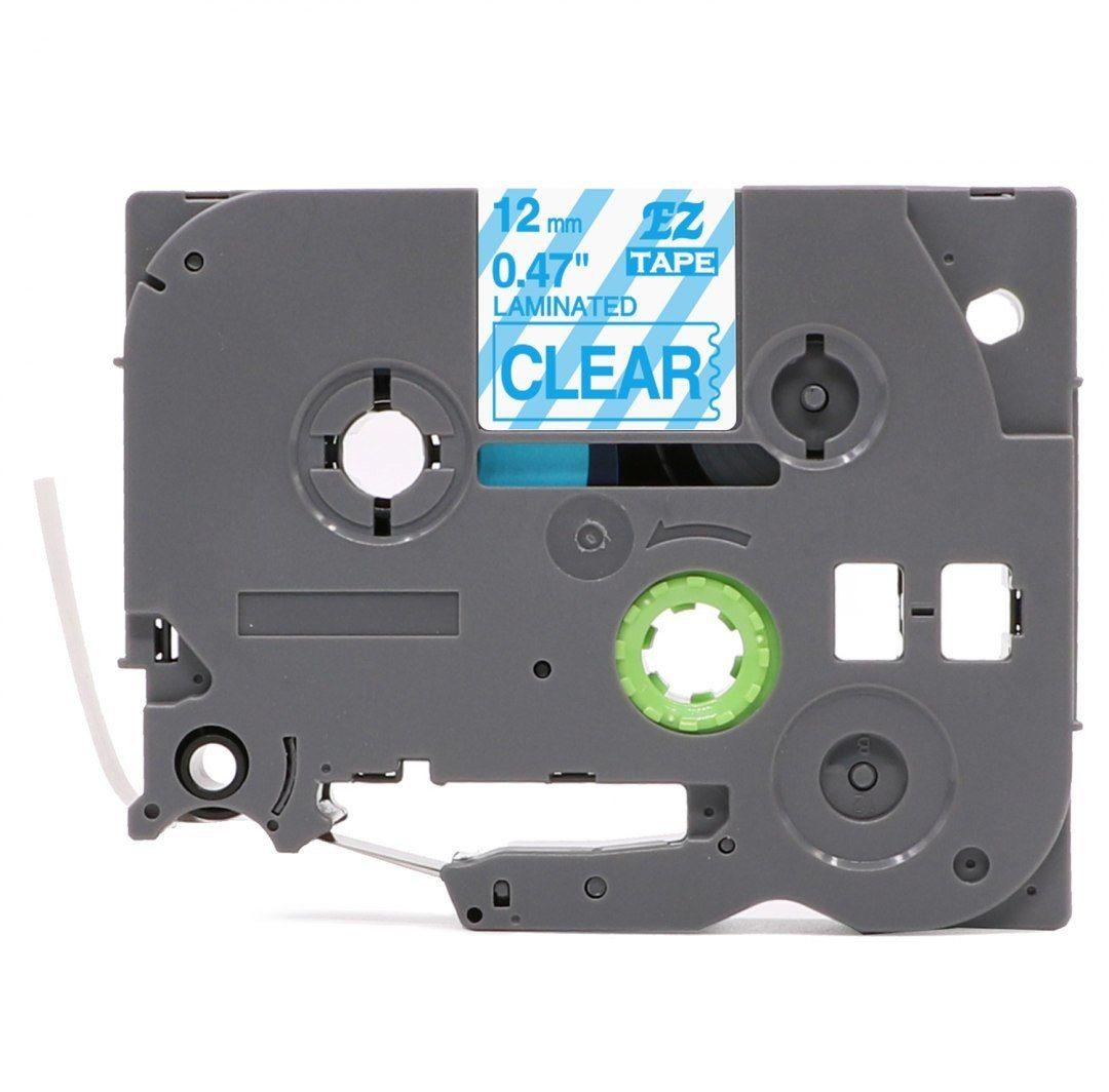 Taśma Brother TZe-133 12mm x 8m przeźroczysta niebieski nadruk - zamiennik OSZCZĘDZAJ DO 80% - ZADZWOŃ! 730811399