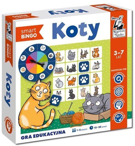 Kapitan Nauka. Gra edukacyjna. Koty. Smart bingo