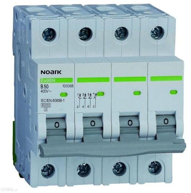 Wyłącznik nadprądowy 4P C 16A 6kA AC NOARK 100173