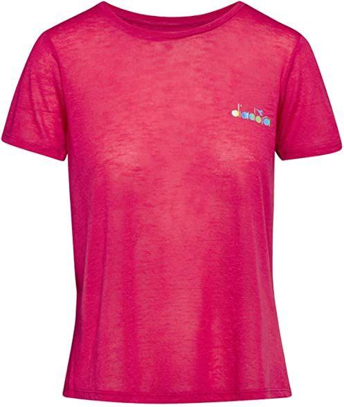 Diadora Kobiety, Workout T-Shirt Berry, srebrny, XS odzież wierzchnia