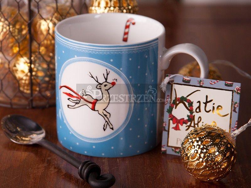 KUBEK PORCELANOWY - Katie Alice Christmas Święta BLUE