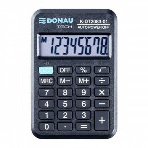 Kalkulator kieszonkowy 8 pozycyjny DONAU TECH K-DT2083-01 89x59x11mm czarny /K-DT2083-01/