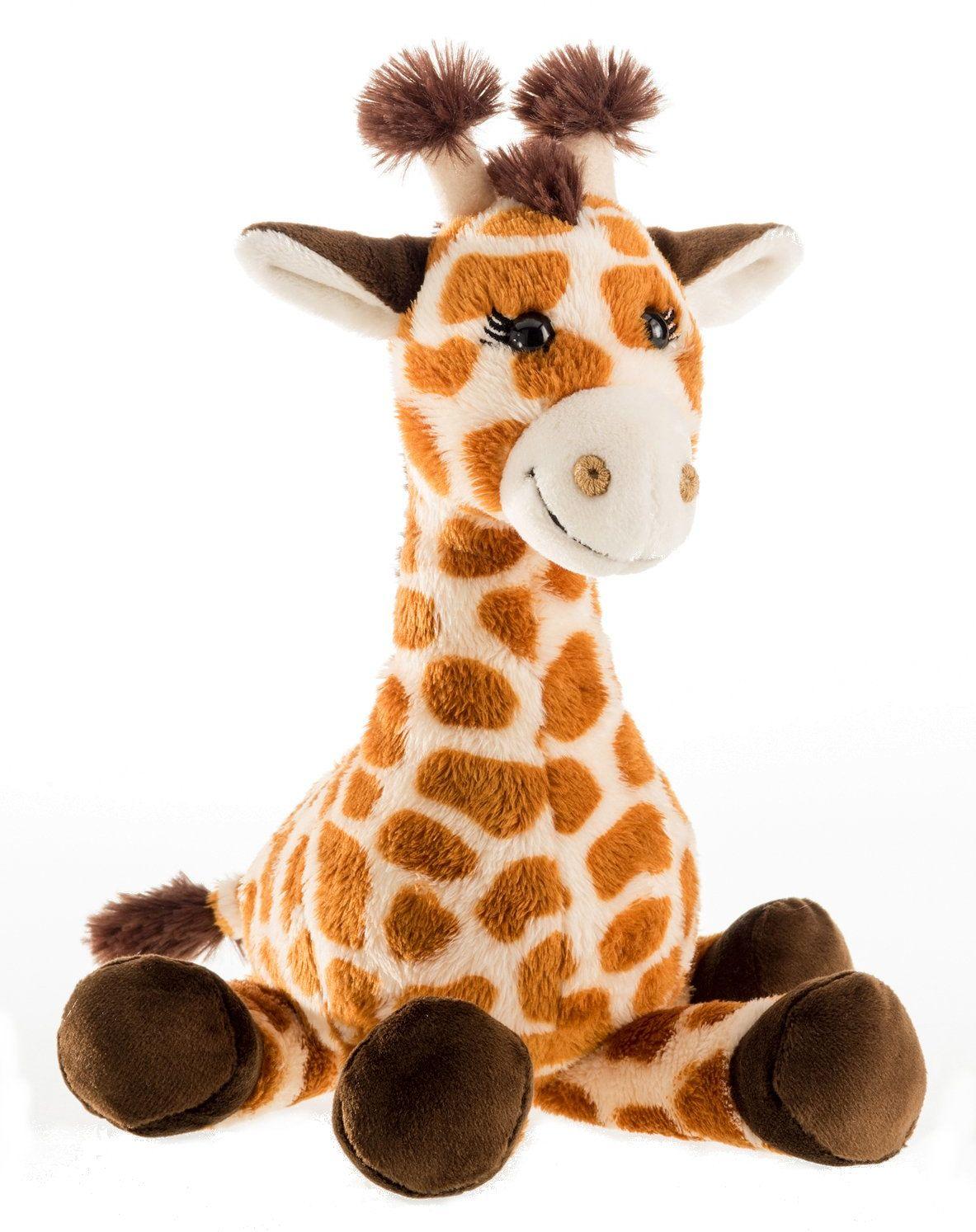 Schaffer 5563 pluszowa żyrafa Bahati, brązowa, L - 39 cm