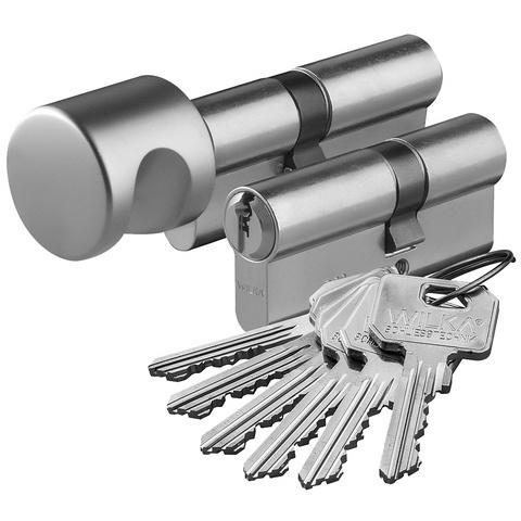 Zestaw wkładek Wilka klasa 6/C komplet 30/30+30G/30 nikiel 6 kluczy