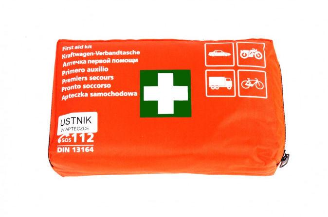 01691 Apteczka samochodowa pierwszej pomocy z ustnikiem DIN 13164