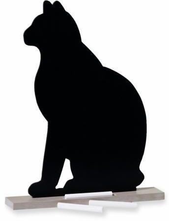 Tablica w kształcie kota + 6 sztuk kredy
