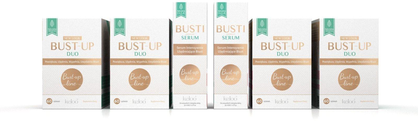 Kuracja 2-miesięczna BUST-UP LINE ( 4 x 60 kapsułek ) + 2 x BUSTI Serum 30 ml