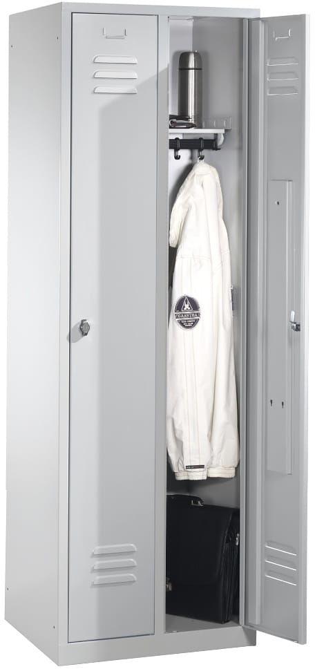 Metalowa szafa ubraniowa 2-drzwiowa szer. 61 cm