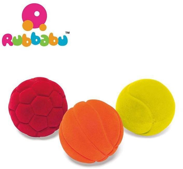 Rubbabu zestaw 3 małych sensorycznych piłeczek sportowych