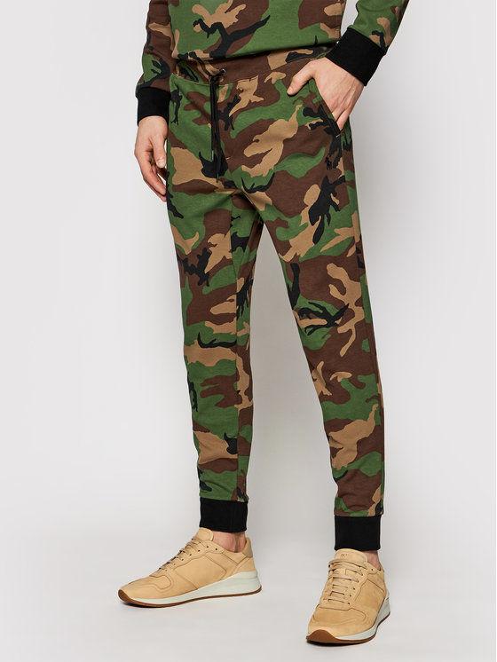 Polo Ralph Lauren Spodnie dresowe Pnt 710828121001 Zielony Regular Fit