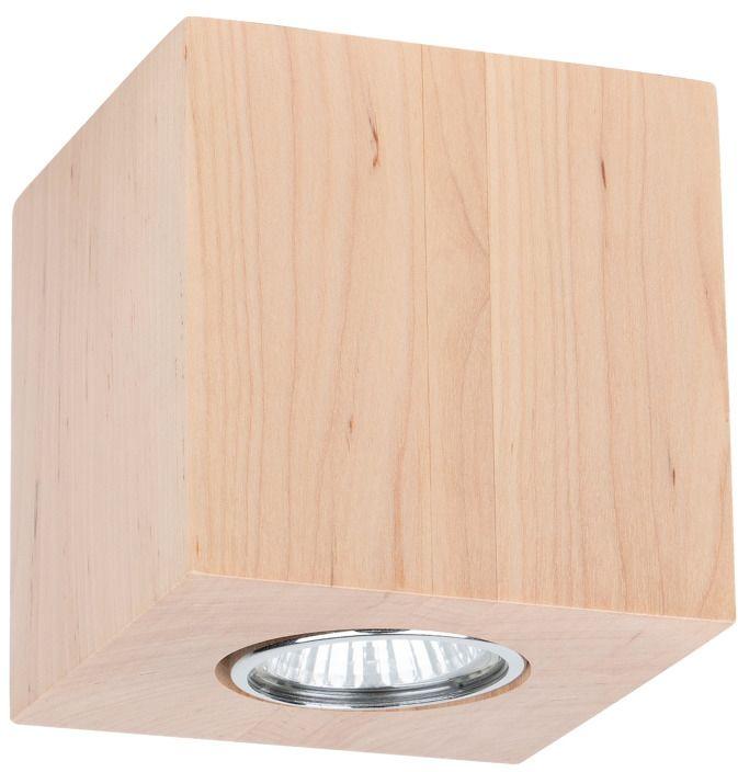 Spot Light 2576160 Wooddream Square plafon lampa sufitowa kwadrat 1xLED GU10 5W Brzoza 10cm