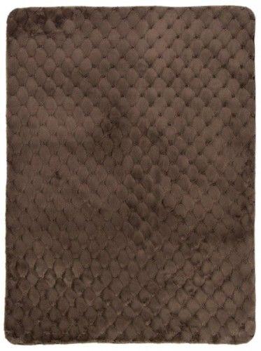 Dywan pluszowy JAQUARD brązowy
