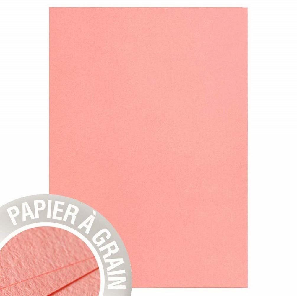 Clairefontaine papier ziarnisty, A4, 210 g/m  - koral puder, 25 arkuszy