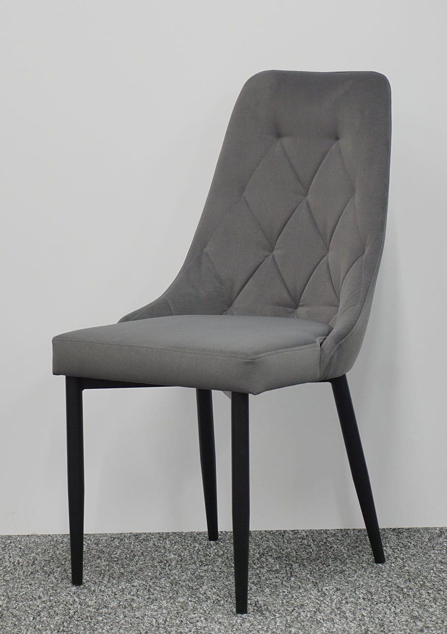 Okazja Zestaw dwóch krzeseł CAREN PRESTIGE kolor szary nogi czarne