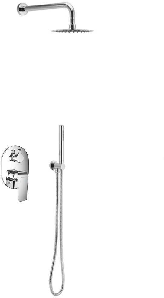 Excellent CLEVER Zestaw prysznicowo-wannowy podtynkowy Chrom ARAC.SET.4145CR