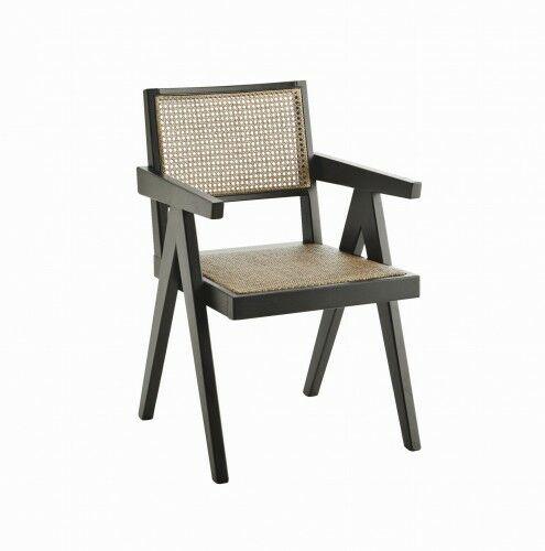 Rattanowe krzesło- czarne Madam Stoltz