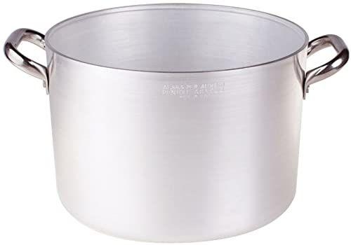 Pentole Agnelli Rondel wysoki, z aluminium, z 2 uchwytami ze stali nierdzewnej, srebrny, 40 cm srebrny/czarny