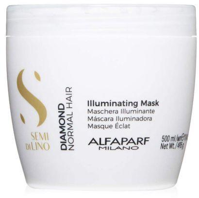 Alfaparf Semi Di Lino Diamond Illuminating Maska rozświetlająca do włosów normalnych 500 ml