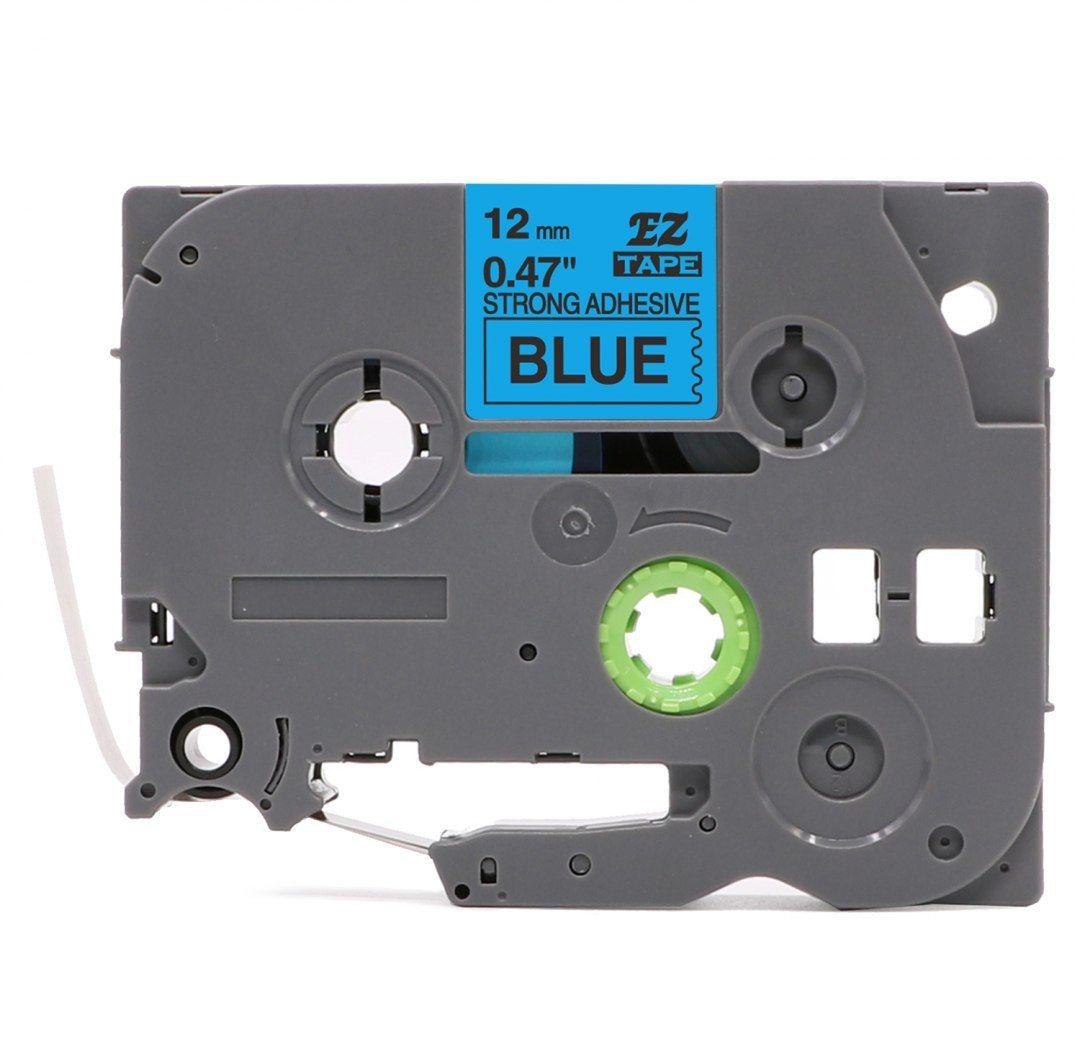 Taśma Brother TZe-S531 mocny klej 12mm x 8m niebieska czarny nadruk - zamiennik OSZCZĘDZAJ DO 80% - ZADZWOŃ!