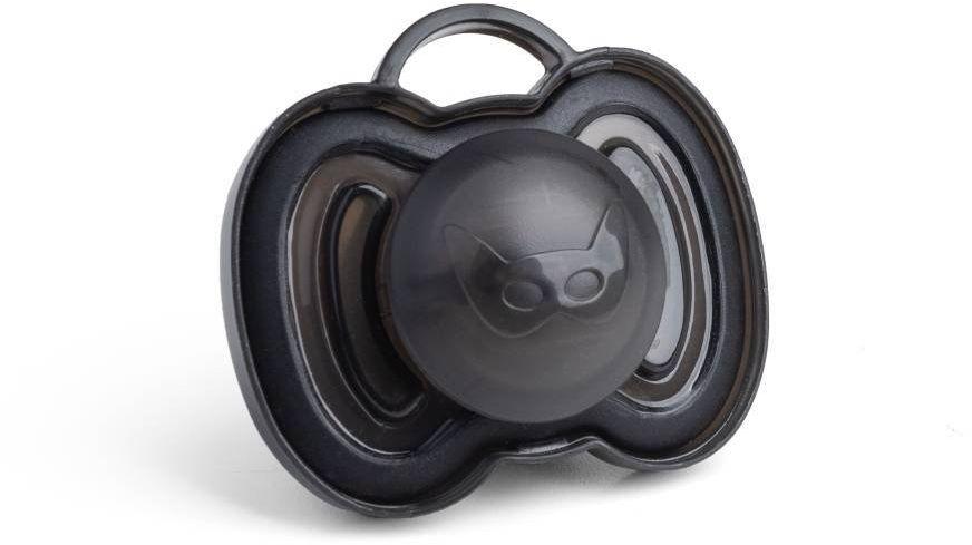 Herobility - smoczek uspokajający HeroPacifier, 0 m+, czarny