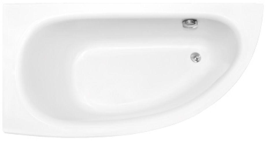 Besco Milena 150x70cm wanna asymetryczna lewa + obudowa + syfon
